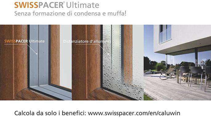 Distanziatore termico swisspacerultimate gruppo infissi - Trasmittanza termica finestre ...